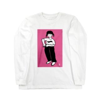 uhei art works.の可愛いヤツ Long sleeve T-shirts