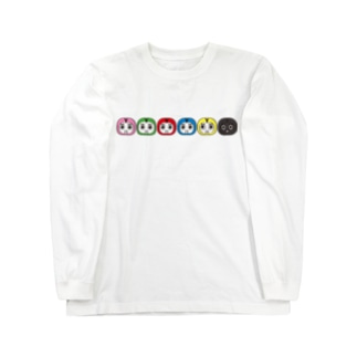 ワイワイ信州(神社)のシンシュウロボ Long sleeve T-shirts