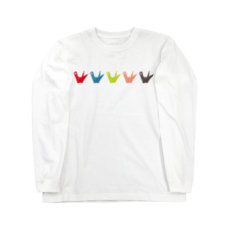 ░▒▓SMIRKWORM▓▒░のPAPERCRANE Long sleeve T-shirts
