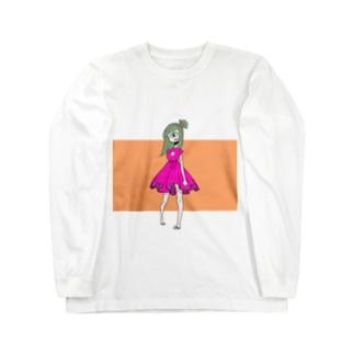 単眼Girl Long sleeve T-shirts