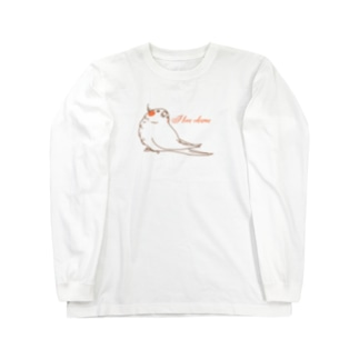 one-naacoのI LOVE オカメ Long sleeve T-shirts