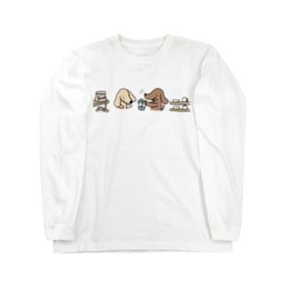 お買物ダックス Long sleeve T-shirts