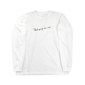 感謝の気持ち Long sleeve T-shirts