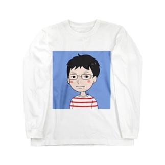 やしやしアイコン Long sleeve T-shirts