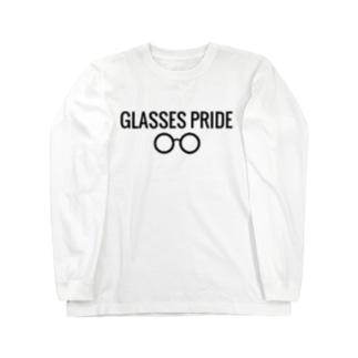 白GLASSES PRIDE Long sleeve T-shirts