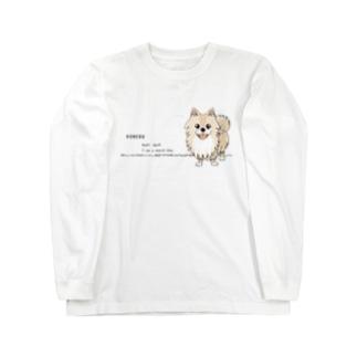 CT08ol ぽめるはポメラニアンA Long sleeve T-shirts