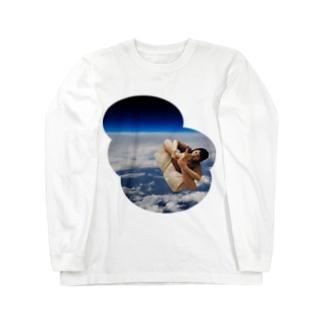 スペースモンゴルナイフ Long sleeve T-shirts
