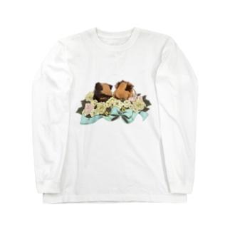 お花とモルモット05 Long sleeve T-shirts