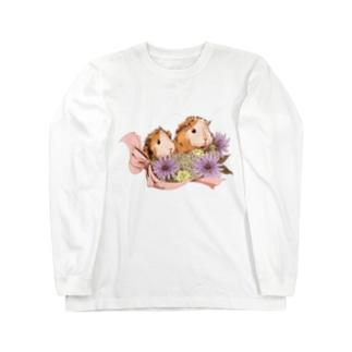 お花とモルモット06 Long sleeve T-shirts