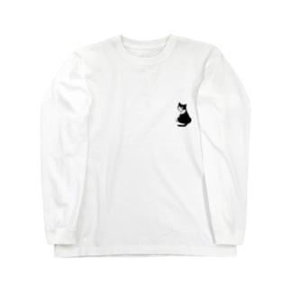 ふりむきにゃんこ Long sleeve T-shirts