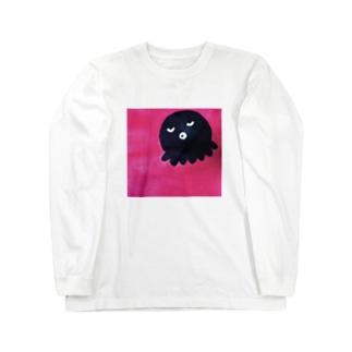 正方形のタコ Long sleeve T-shirts