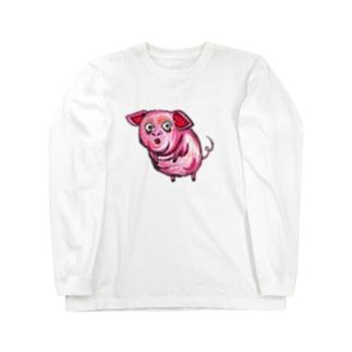 ぶた Long sleeve T-shirts