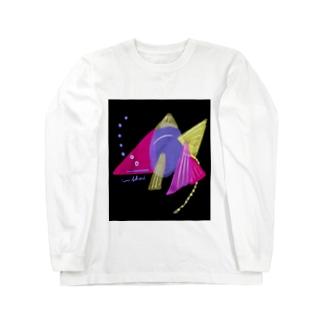 夜のゴールデンうんこ金魚 Long sleeve T-shirts