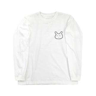 amupontanの人見知りうさぎ Long sleeve T-shirts