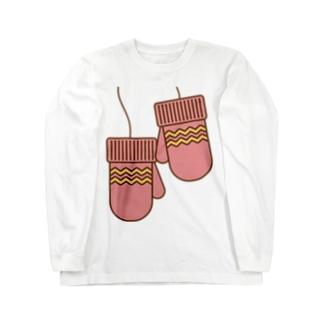 ミトンピンク Long sleeve T-shirts