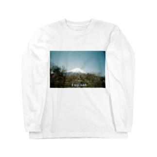 Famous mountain of Japan.[富士さん] Long sleeve T-shirts