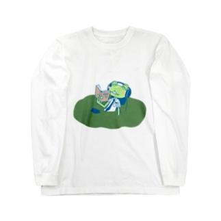 沼の主カエルくん Long sleeve T-shirts