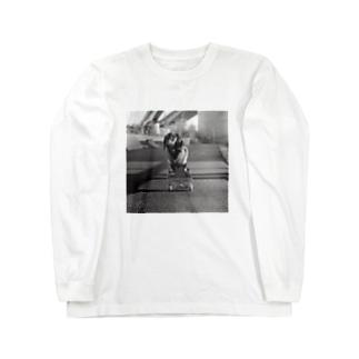 Skating Dog Long sleeve T-shirts