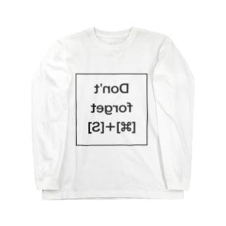 [Mac]あまりにも忘れる人が多いから鏡を見て自分で思い出せSimple Long sleeve T-shirts