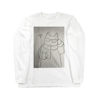 きらりんネコ Long sleeve T-shirts