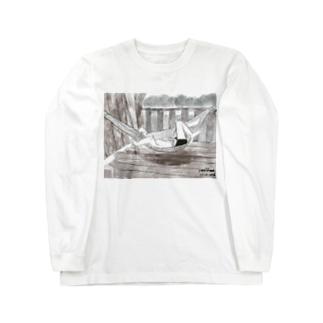 ハンモックで寝るジョセフ Long sleeve T-shirts