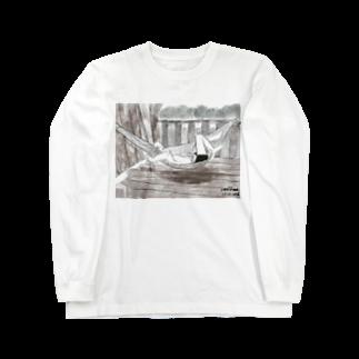 いすやますみえのハンモックで寝るジョセフ Long sleeve T-shirts