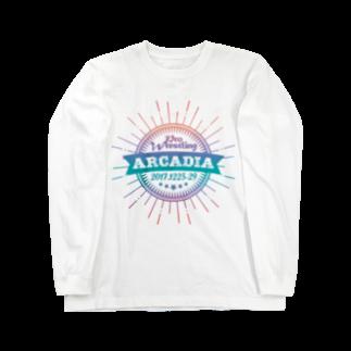 HAKO NO KIMAGUREのPRO WRESTLING ARCADIA Long sleeve T-shirts