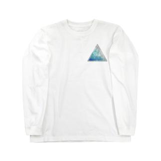 Shiki 電球 トライアングルロゴ Long sleeve T-shirts