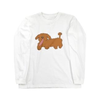 犬のペロンチョ Long sleeve T-shirts