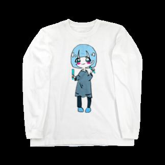 dorima-の水色担当(推し)のキャラ Long sleeve T-shirts