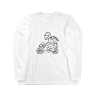 ポケバイ Long sleeve T-shirts