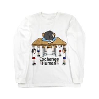 スリーピングデスク【EH】 Long sleeve T-shirts