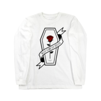 【MOON SIDE】Rose Coffin Ver.1 #Black Red Long sleeve T-shirts