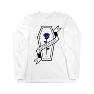 【MOON SIDE】Rose Coffin Ver.1 #Black Blue Long sleeve T-shirts