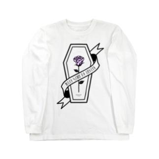 【MOON SIDE】Rose Coffin Ver.1 #Black Purple Long sleeve T-shirts