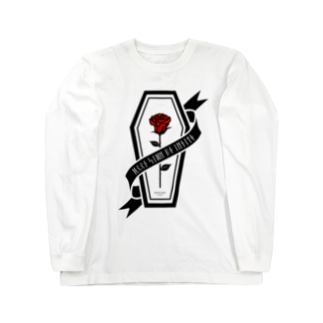 【MOON SIDE】Rose Coffin Ver.2 #Black Red Long sleeve T-shirts
