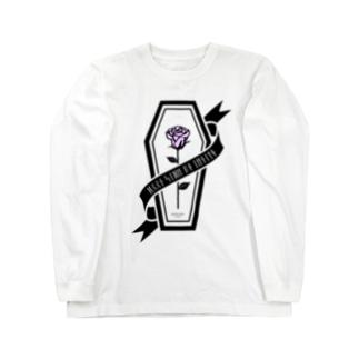 【MOON SIDE】Rose Coffin Ver.2 #Black Purple Long sleeve T-shirts