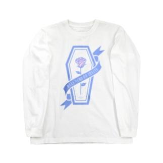 【MOON SIDE】Rose Coffin Ver.2 #lightblue×lightpink Long sleeve T-shirts
