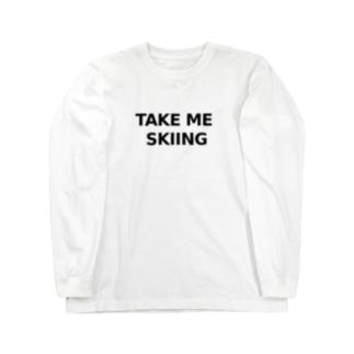 TAKE ME SKIING black Long sleeve T-shirts