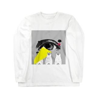 アイくまトリオ Long sleeve T-shirts