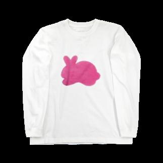 Teatime ティータイムのぴんくうさぎ Long sleeve T-shirts