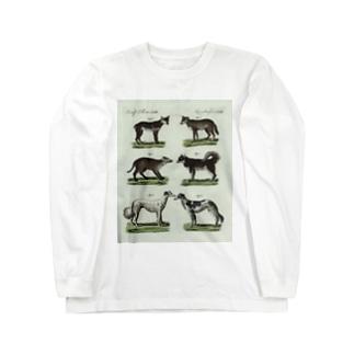 1802年ドイツの犬たち Long sleeve T-shirts