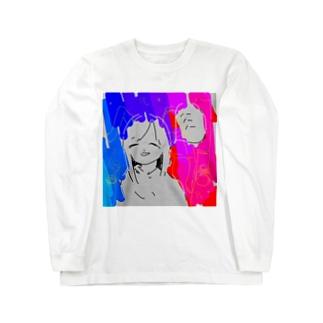 ハハハちゃん Long sleeve T-shirts
