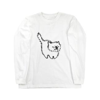 敵意むきだしわんこ Long sleeve T-shirts
