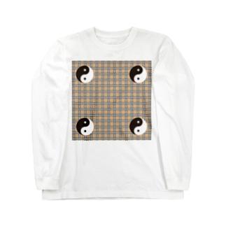 wavy yingyang Long sleeve T-shirts