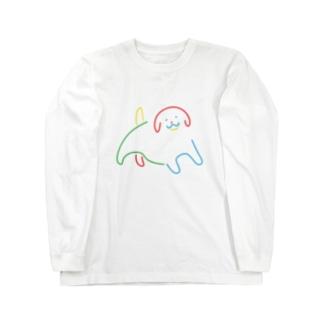 グッドドッグ_カラー Long sleeve T-shirts
