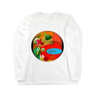 猫の伝言板 Long sleeve T-shirts
