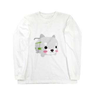 柴とれ(黄緑) Long sleeve T-shirts