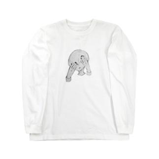 暗闇まっしゅくんのマッシュヘアー Long sleeve T-shirts