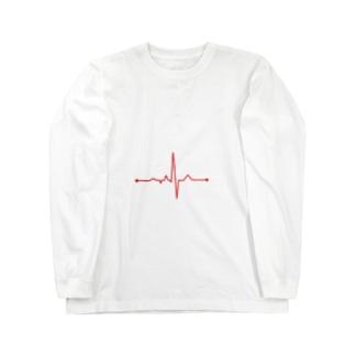 心拍数 Long sleeve T-shirts
